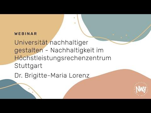 Universität nachhaltiger gestalten - Nachhaltigkeit im Höchstleistungsrechenzentrum Stuttgart