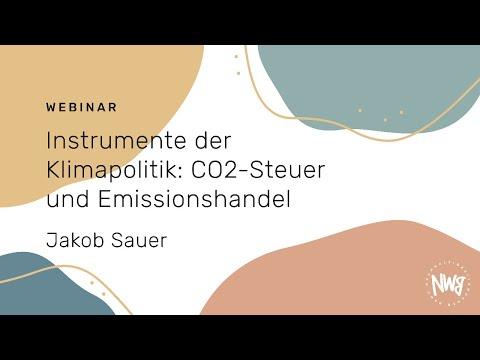 Instrumente der Klimapolitik: CO2-Steuer und Emissionshandel (Jakob Sauer)   NWB