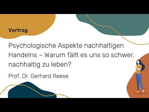 Psychologische Aspekte nachhaltigen Handelns (Prof. Dr. Gerhard Reese)   NWB