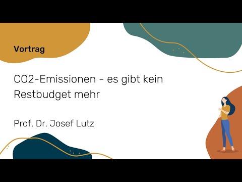 CO2-Emissionen - es gibt kein Restbudget mehr (Prof. Josef Lutz)   NWB