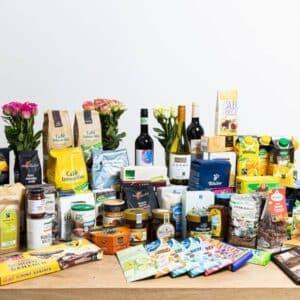 Verschiedene Fairtrade Produkte